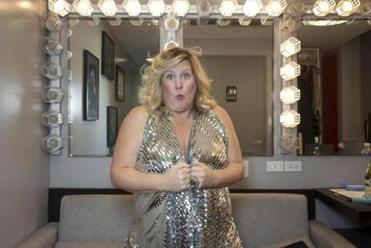 Bridget Everett recently in her dressing room.